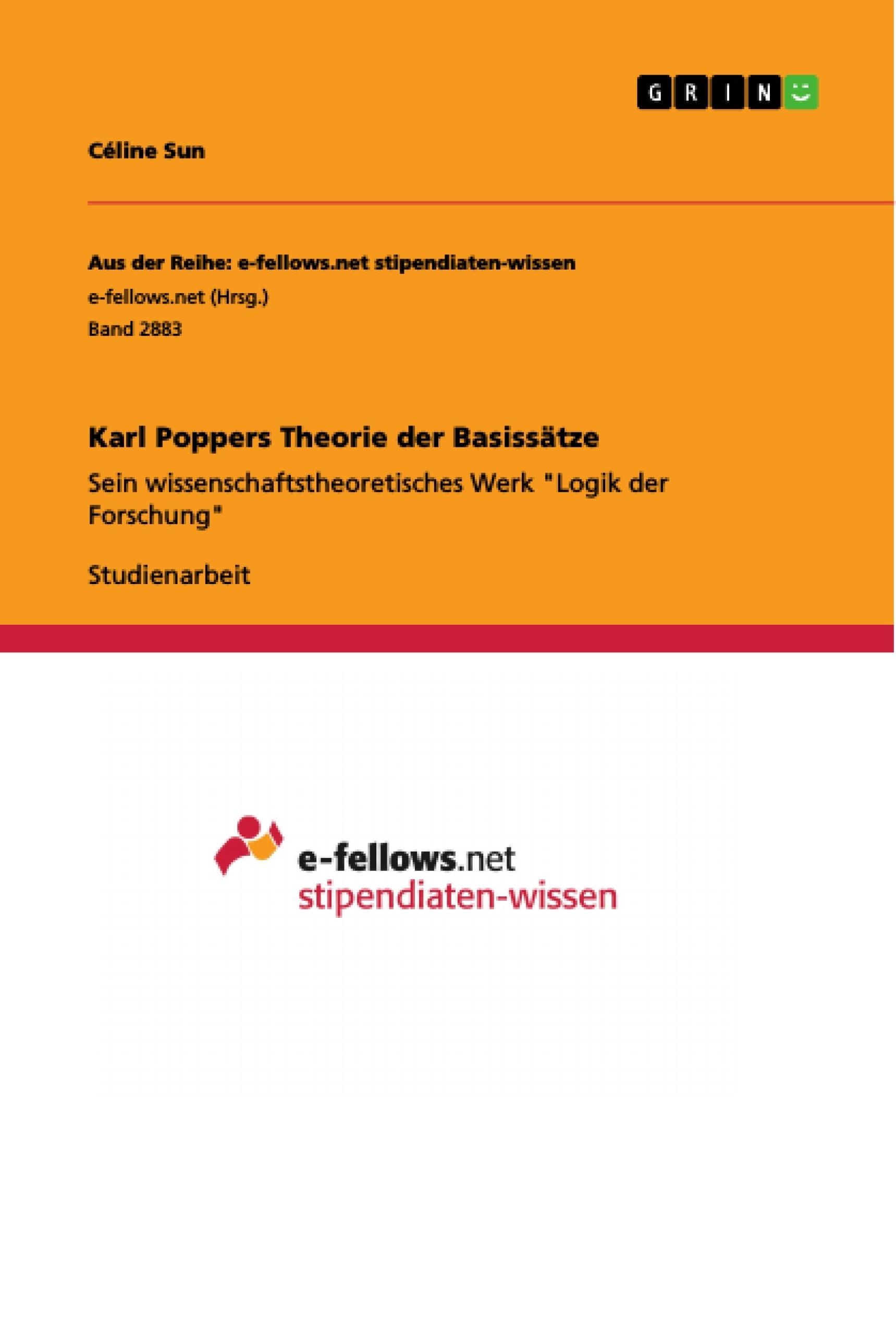 Titel: Karl Poppers Theorie der Basissätze