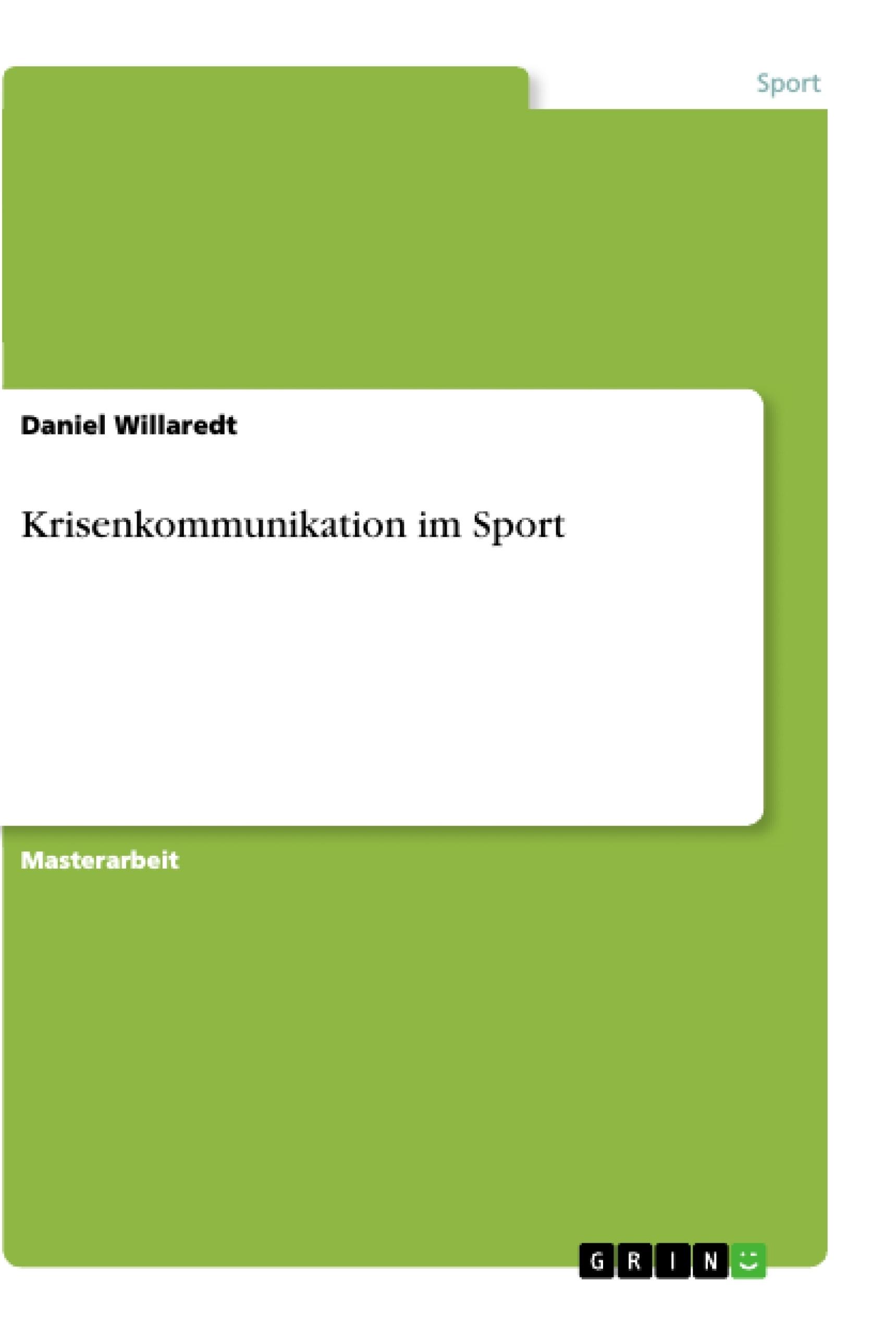 Titel: Krisenkommunikation im Sport