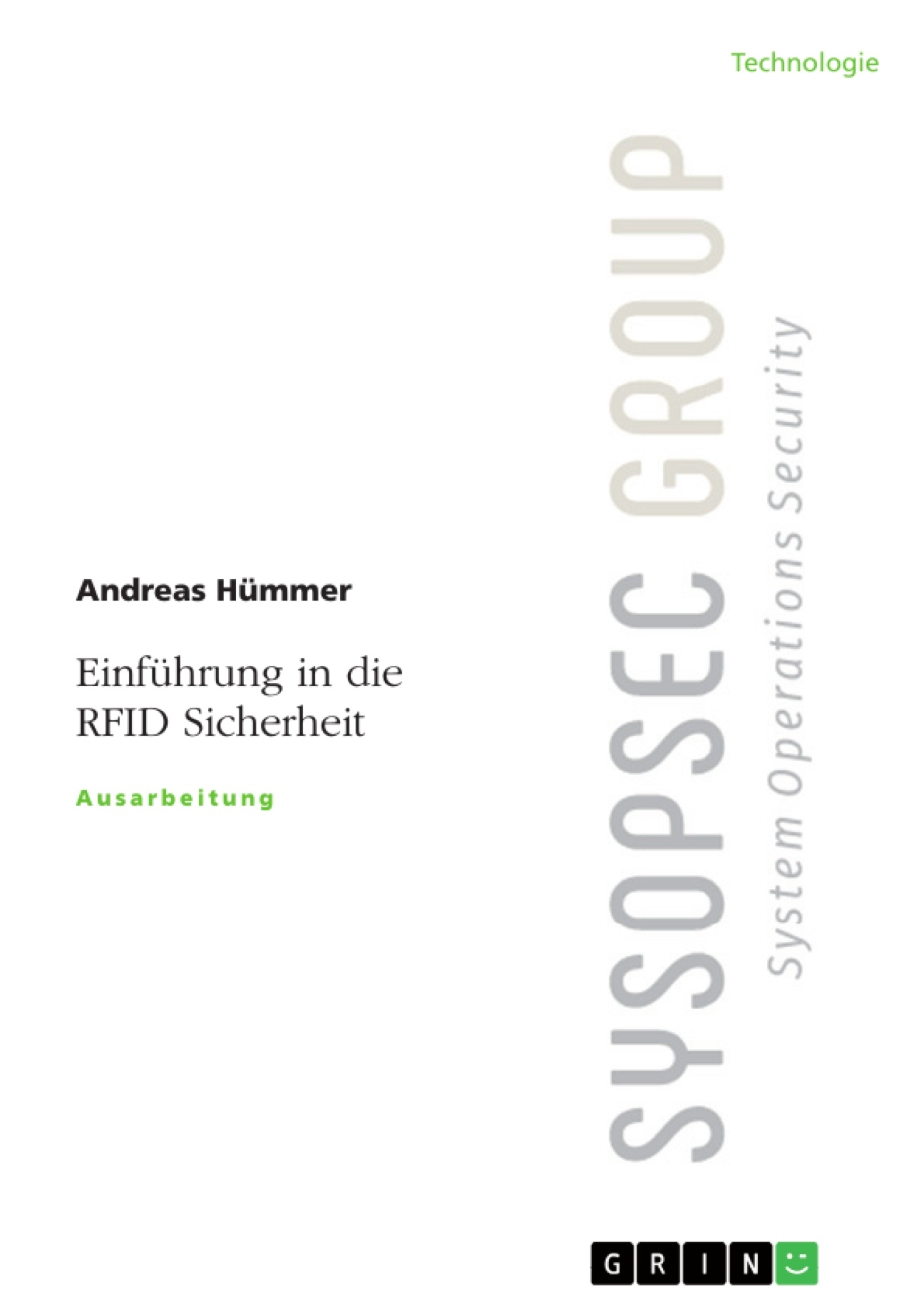 Titel: Einführung in die RFID Sicherheit