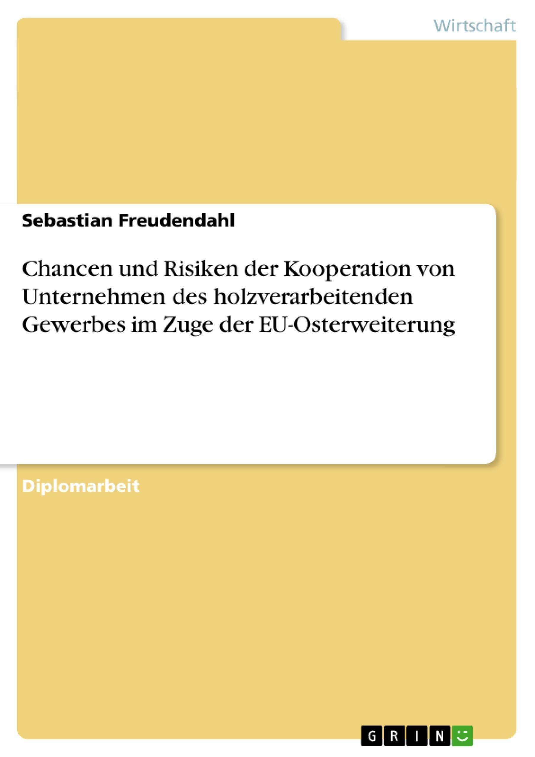 Titel: Chancen und Risiken der Kooperation von Unternehmen des holzverarbeitenden Gewerbes im Zuge der EU-Osterweiterung