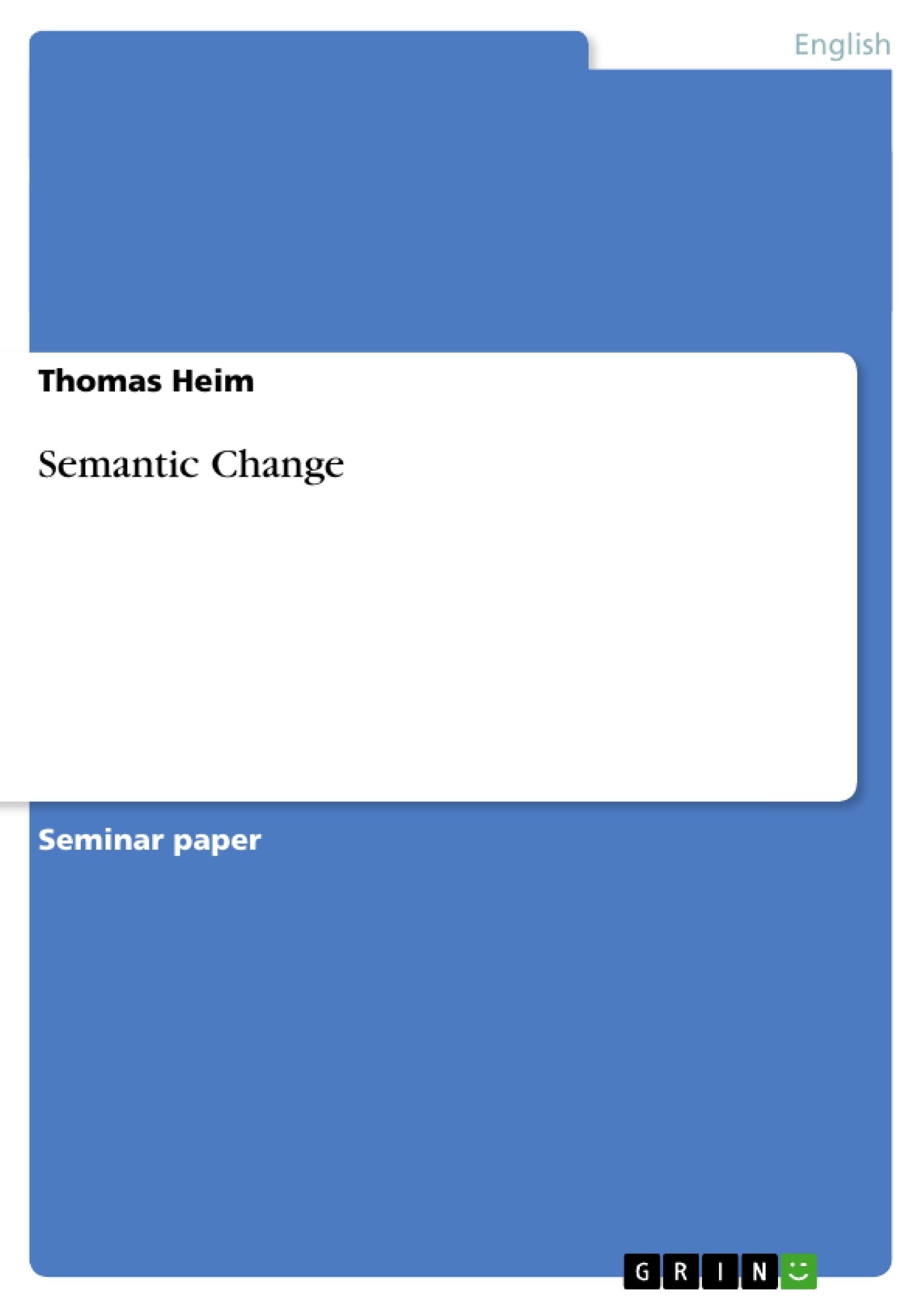 Title: Semantic Change