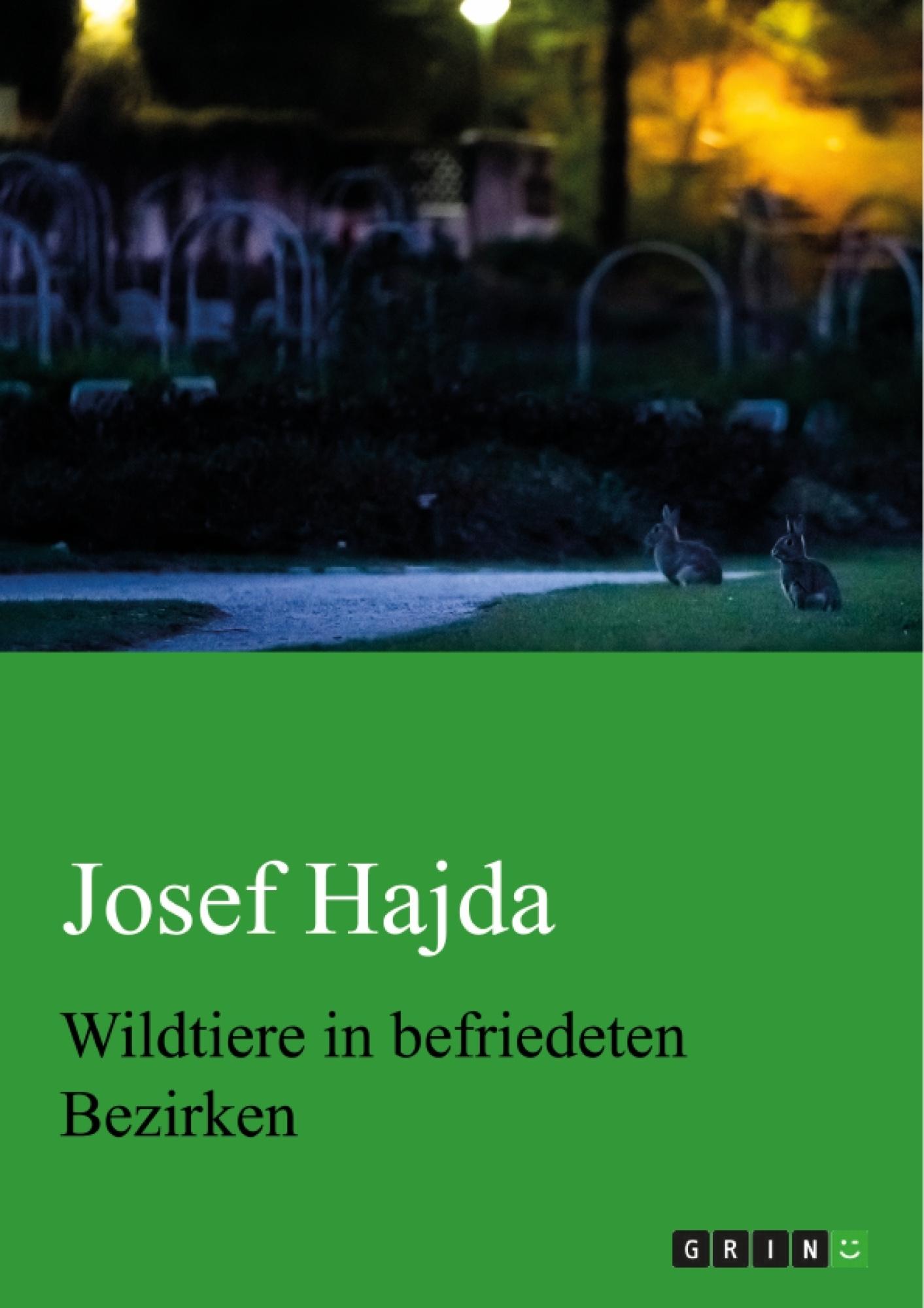 Titel: Wildtiere in befriedeten Bezirken