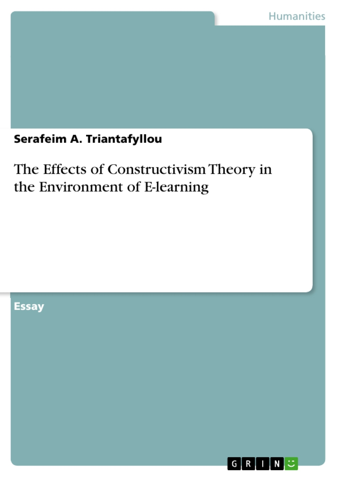 Title: The Effects of Constructivism Theory in the Environment of E-learning