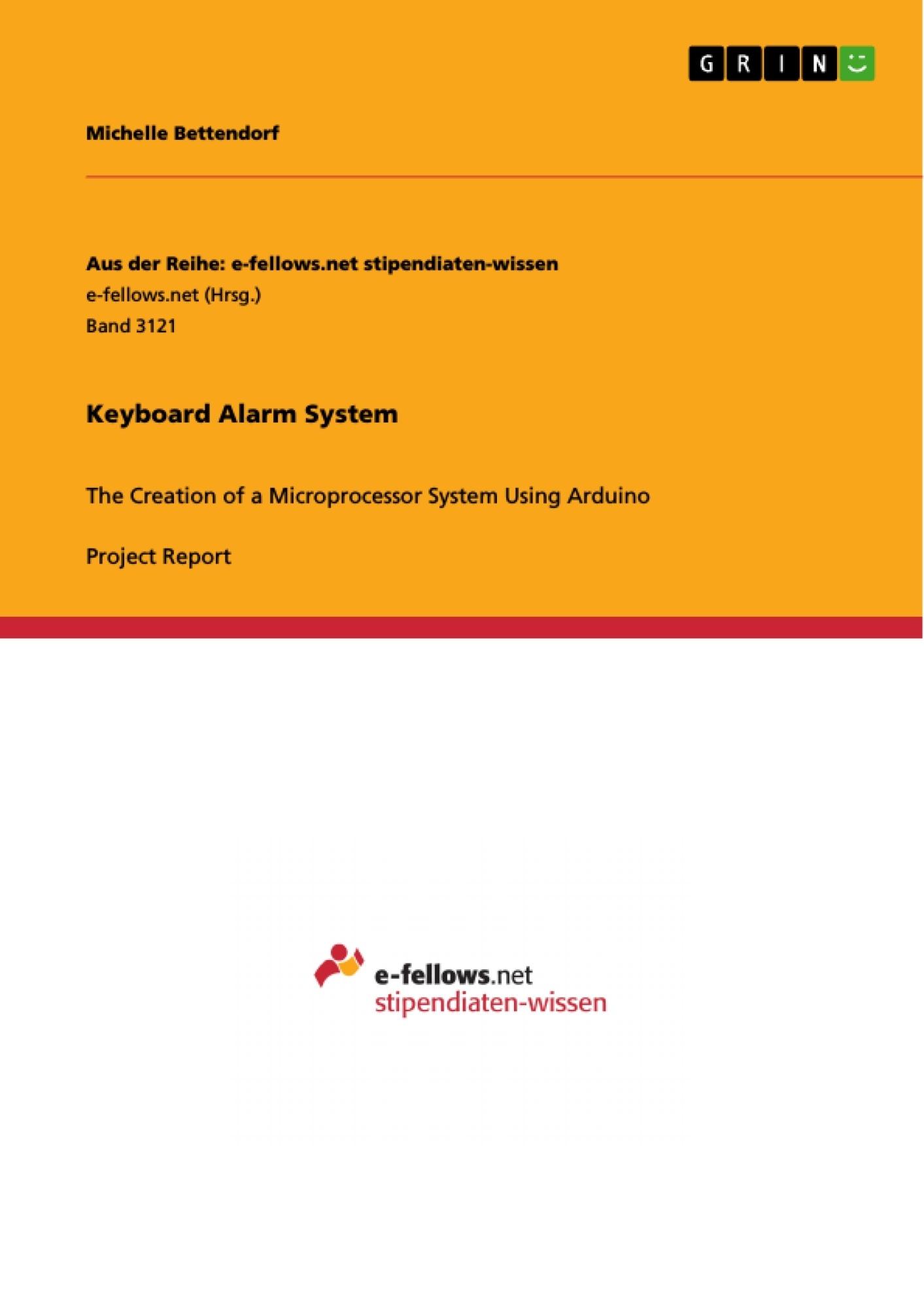 Title: Keyboard Alarm System