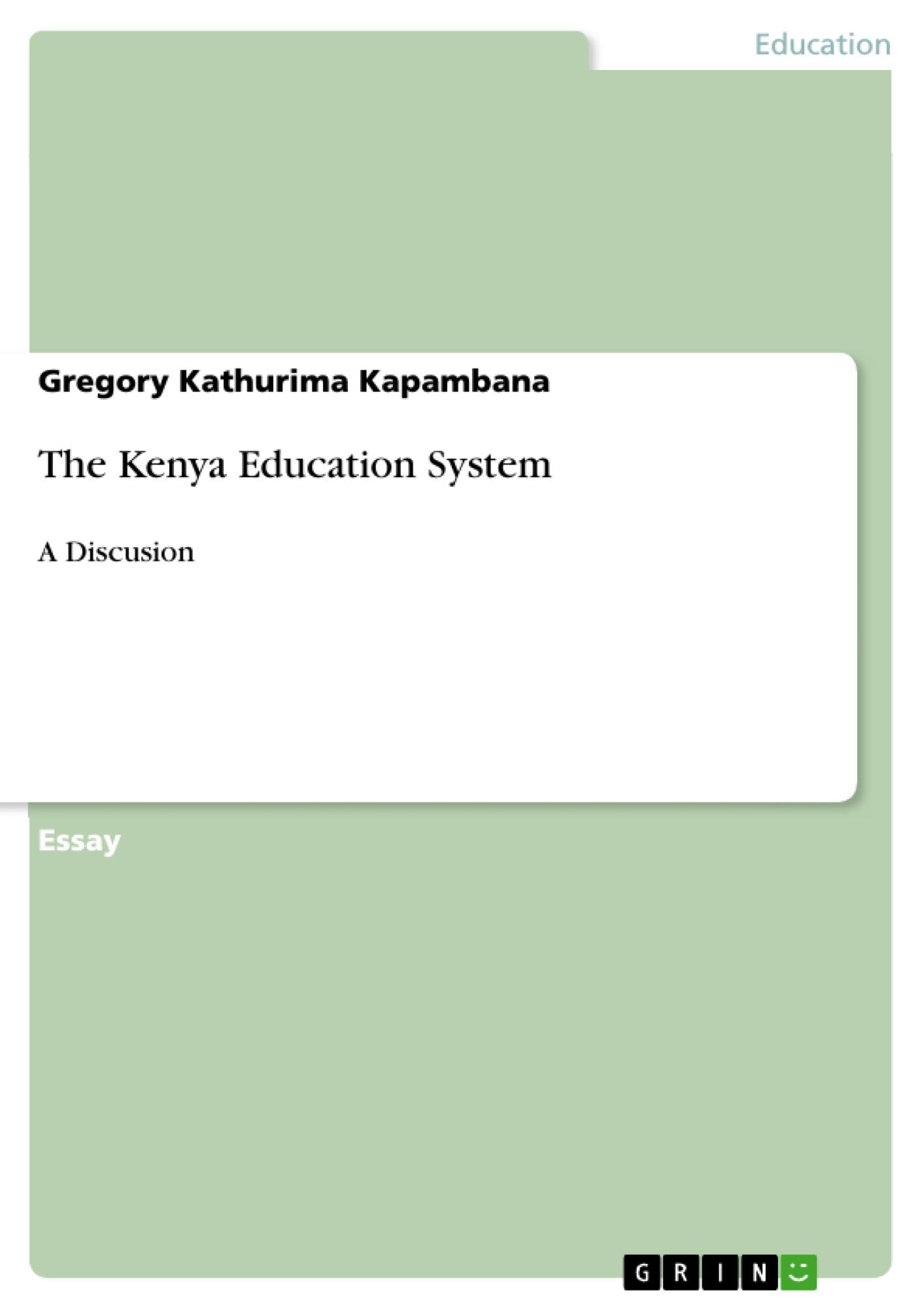 Title: The Kenya Education System