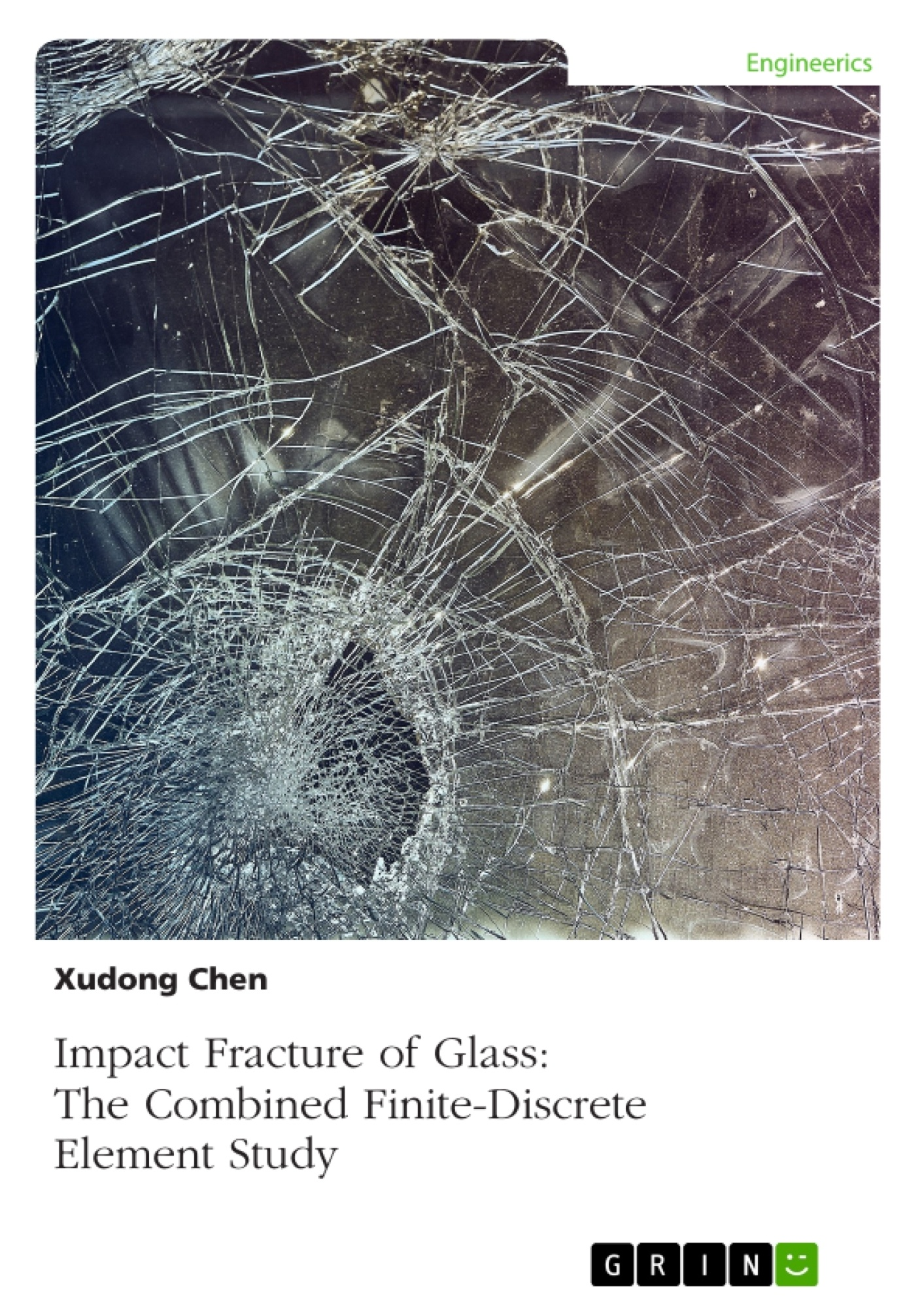 Title: Impact Fracture of Glass. The Combined Finite-Discrete Element Study