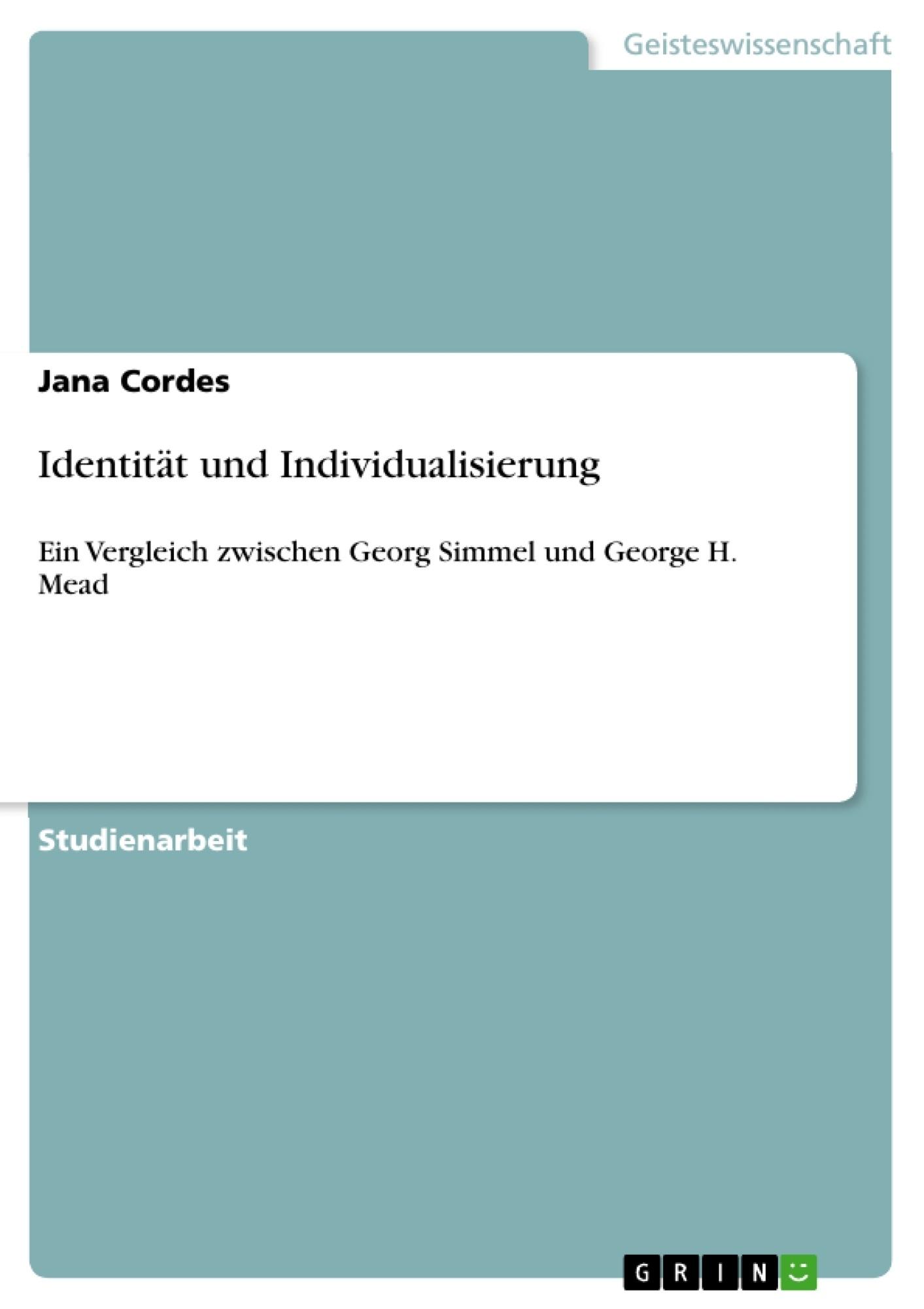 Titel: Identität und Individualisierung