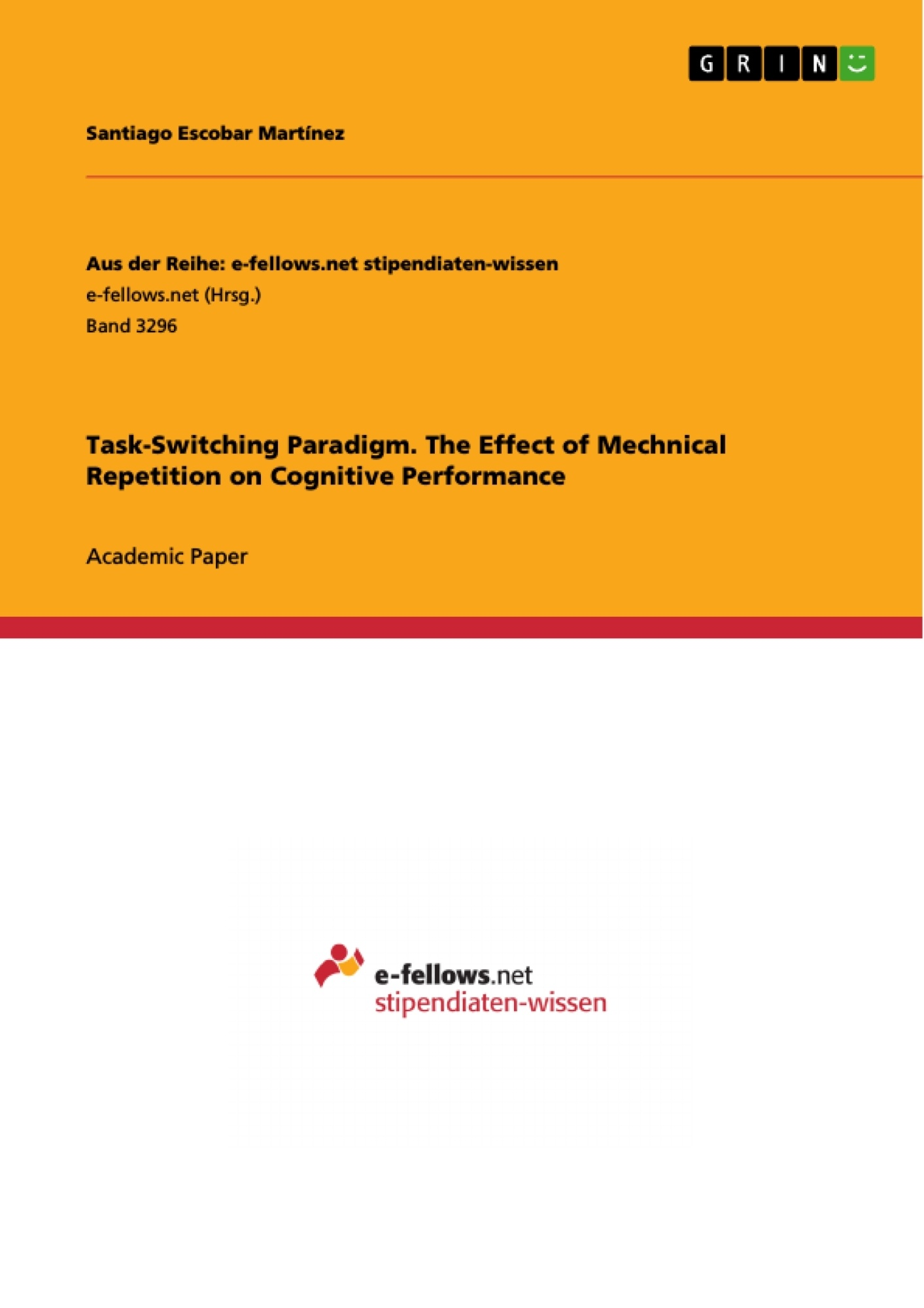 Title: Task-Switching Paradigm. The Effect of Mechnical Repetition on Cognitive Performance