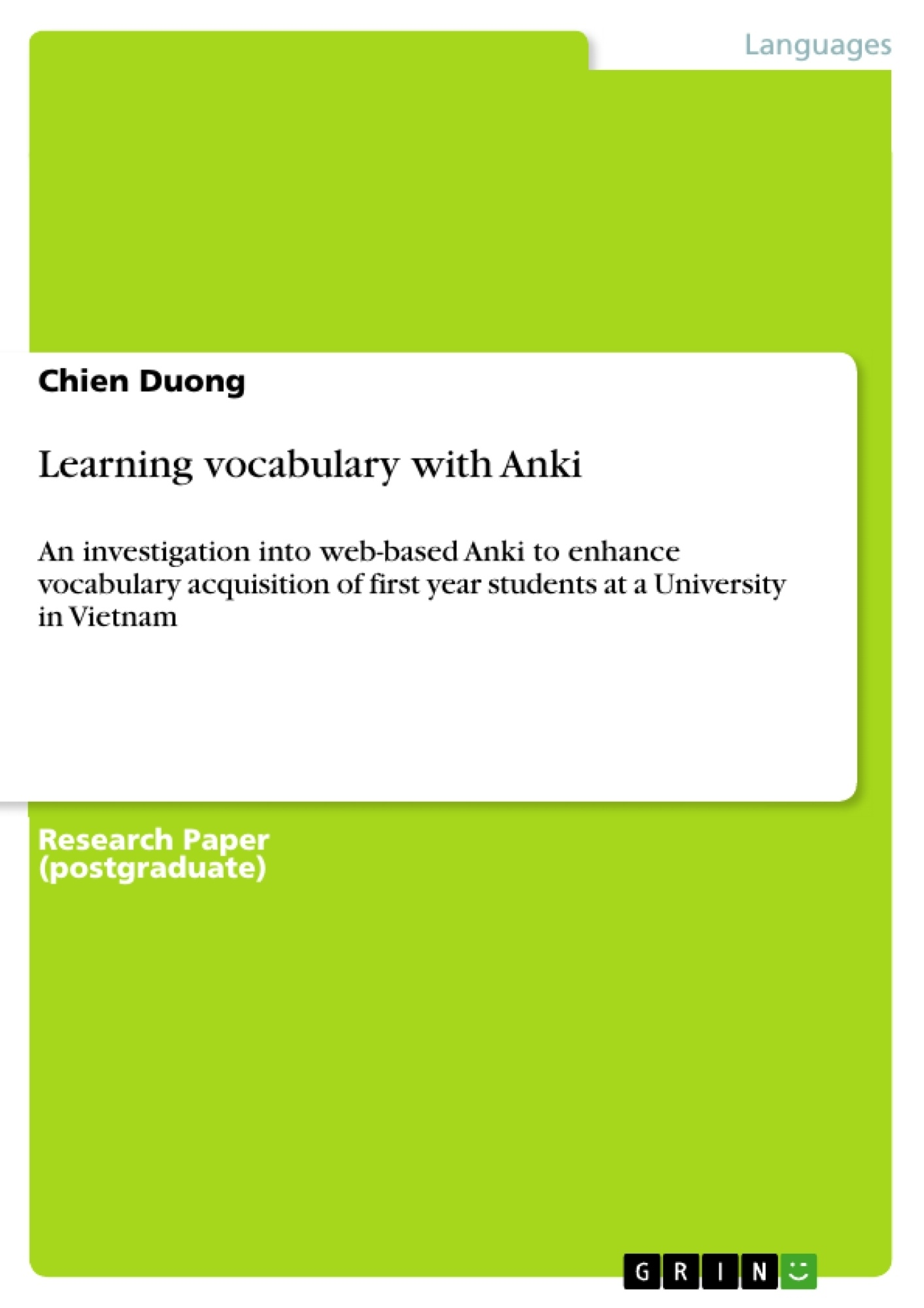 Title: Learning vocabulary with Anki