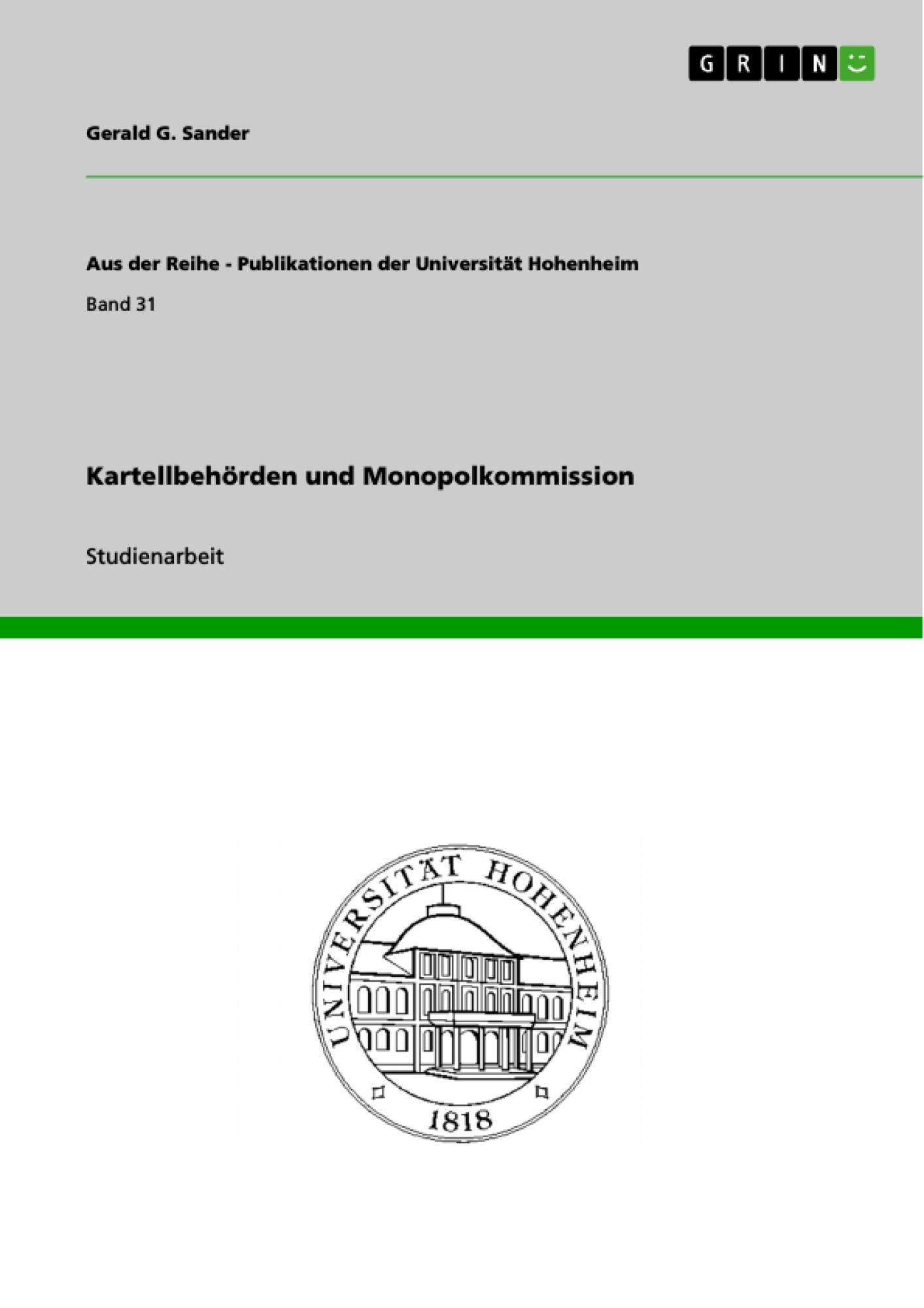Titel: Kartellbehörden und Monopolkommission