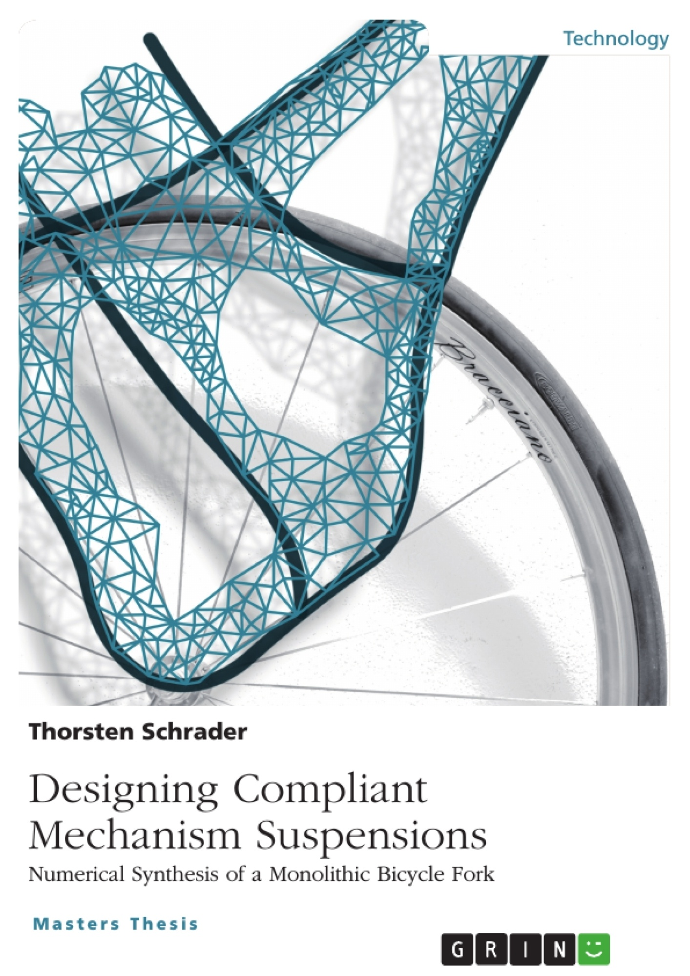 Title: Designing Compliant Mechanism Suspensions. Numerical Synthesis of a Monolithic Bicycle Fork