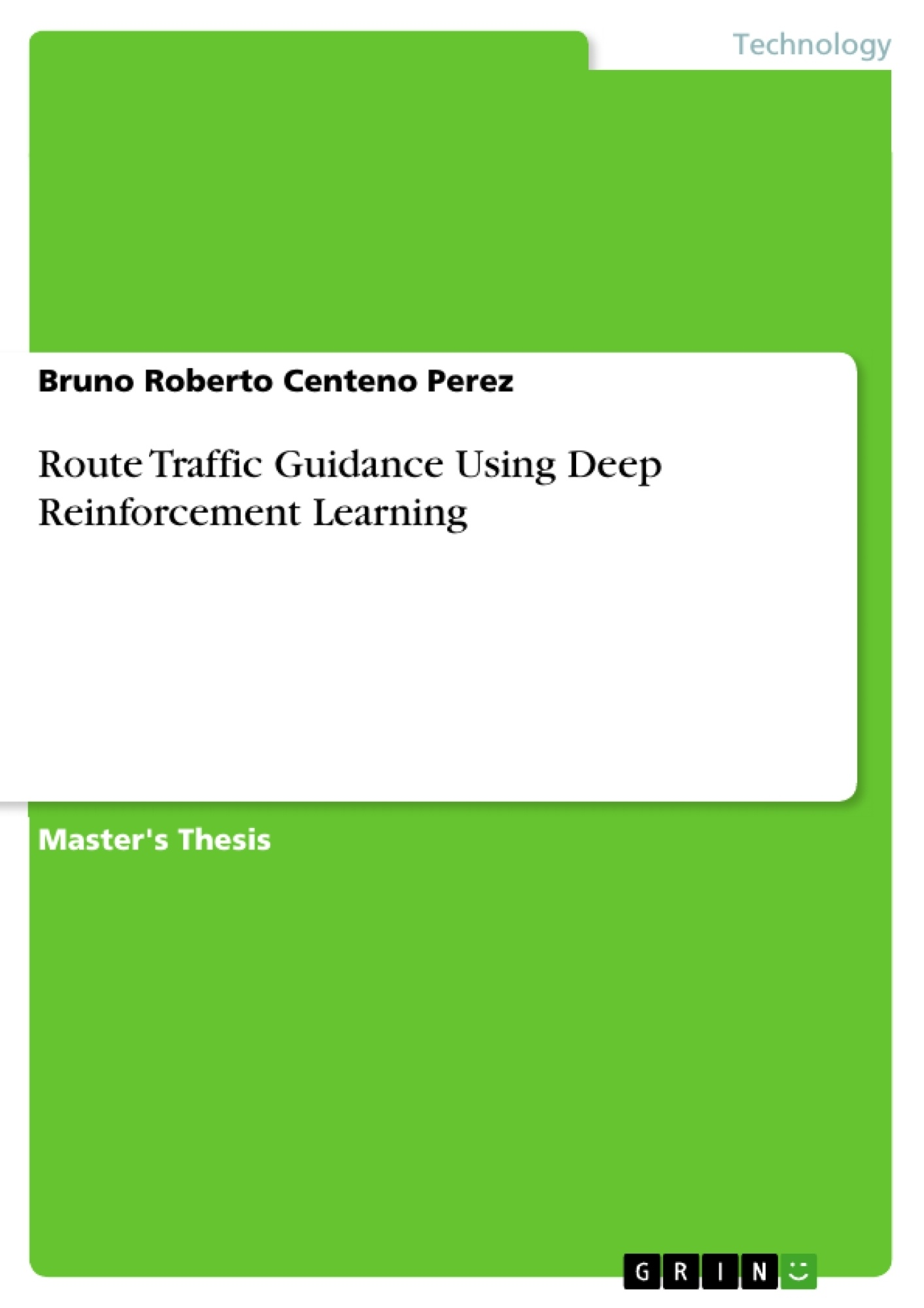 Title: Route Traffic Guidance Using Deep Reinforcement Learning