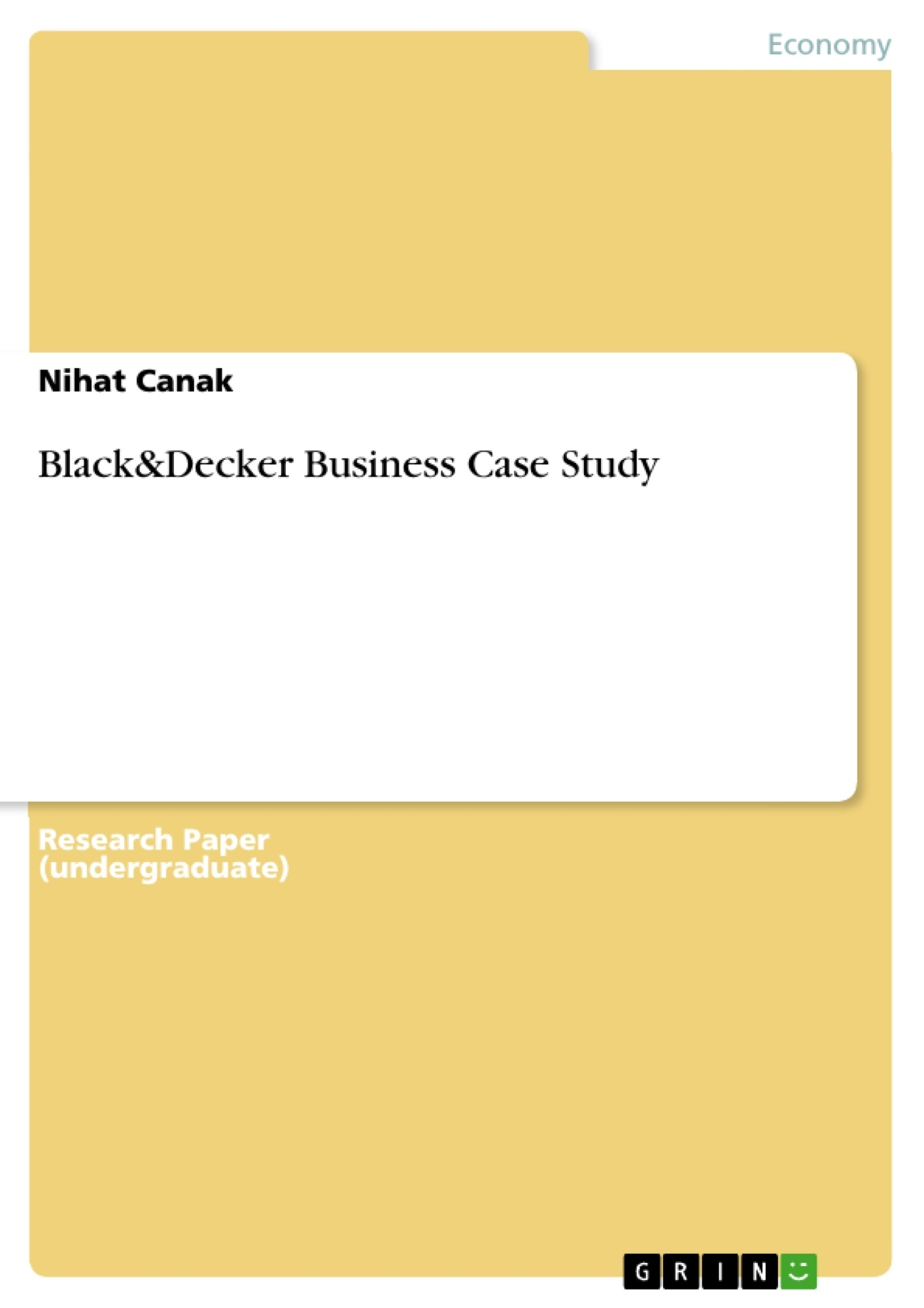 Title: Black&Decker Business Case Study