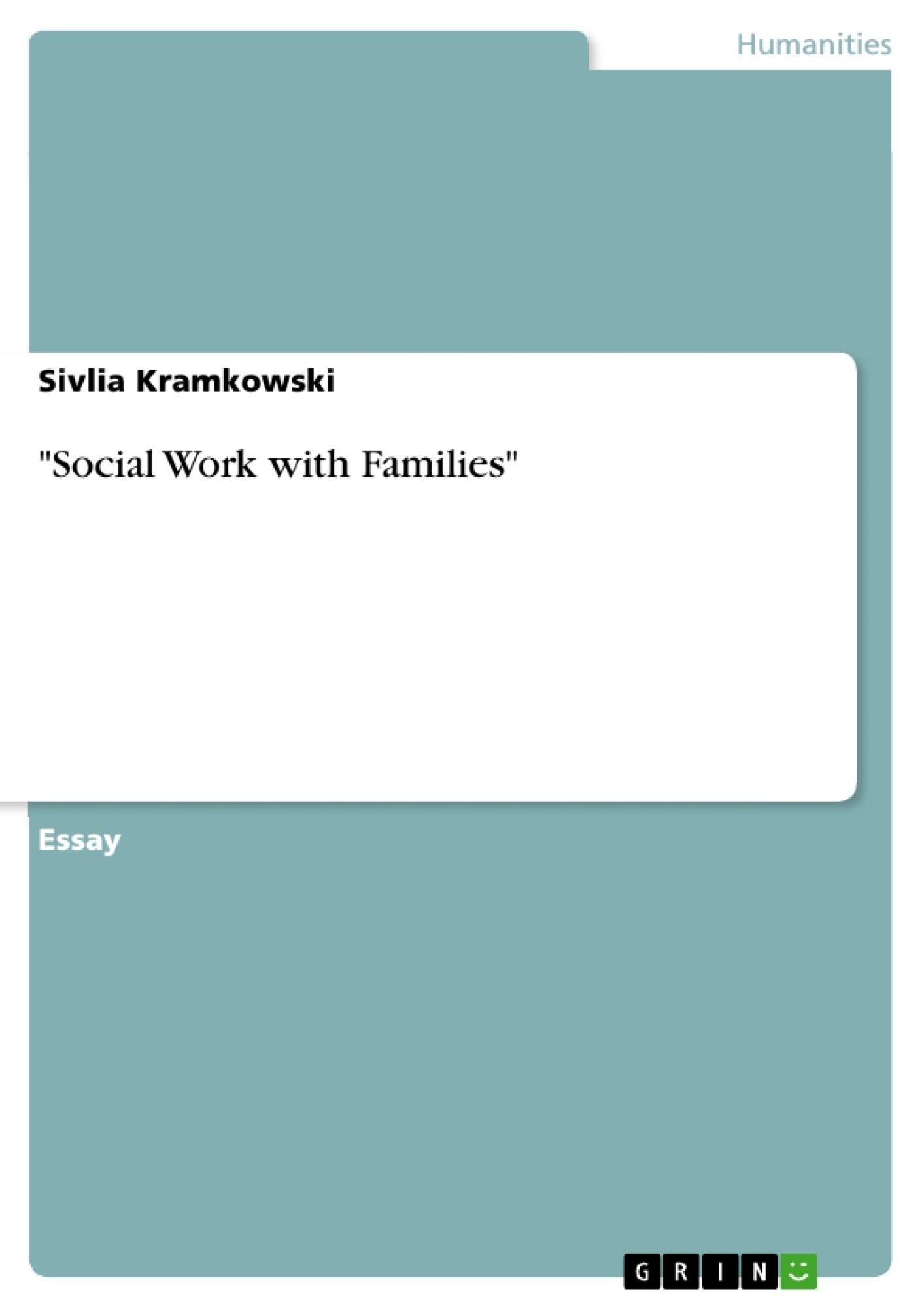 """Title: """"Social Work with Families"""""""