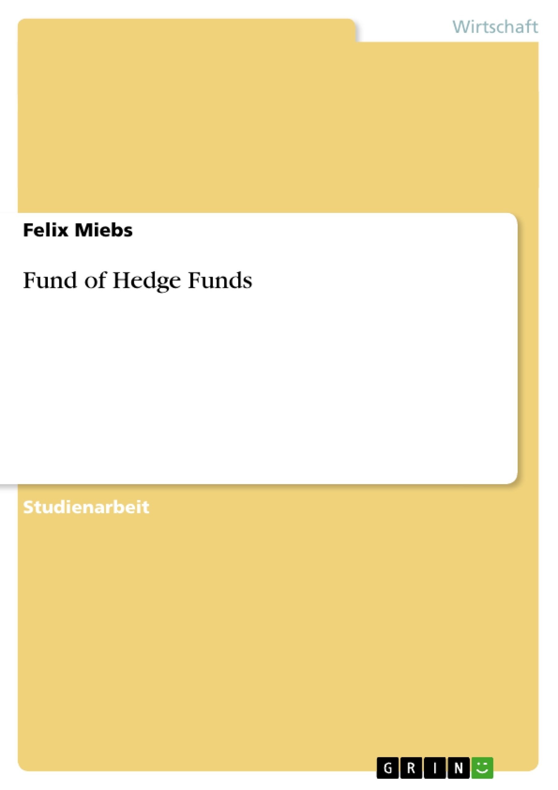 Titel: Fund of Hedge Funds