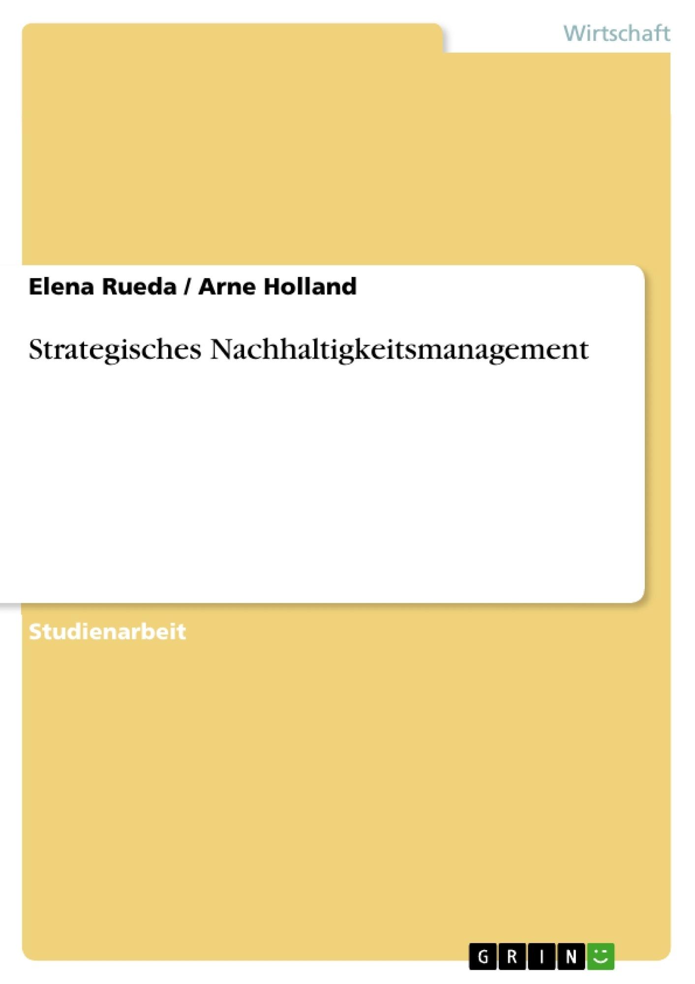 Titel: Strategisches Nachhaltigkeitsmanagement