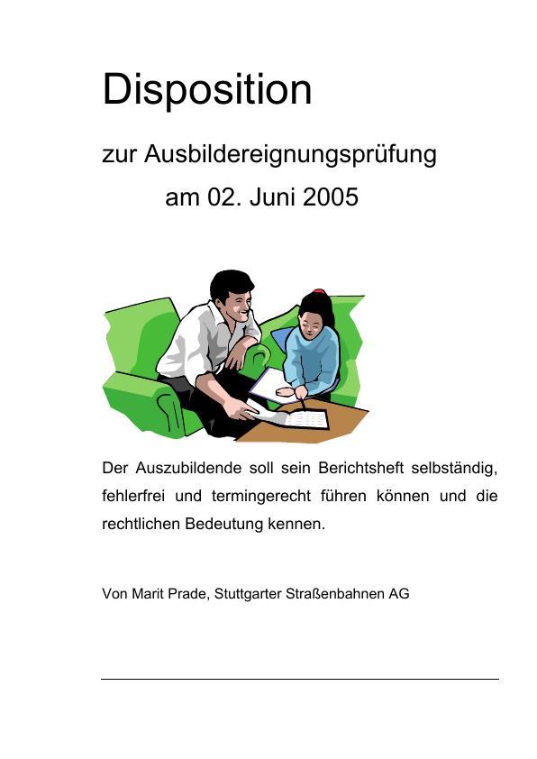 Titel: Korrektes Führen des Berichtshefts (Unterweisung Industriekaufmann / -kauffrau)
