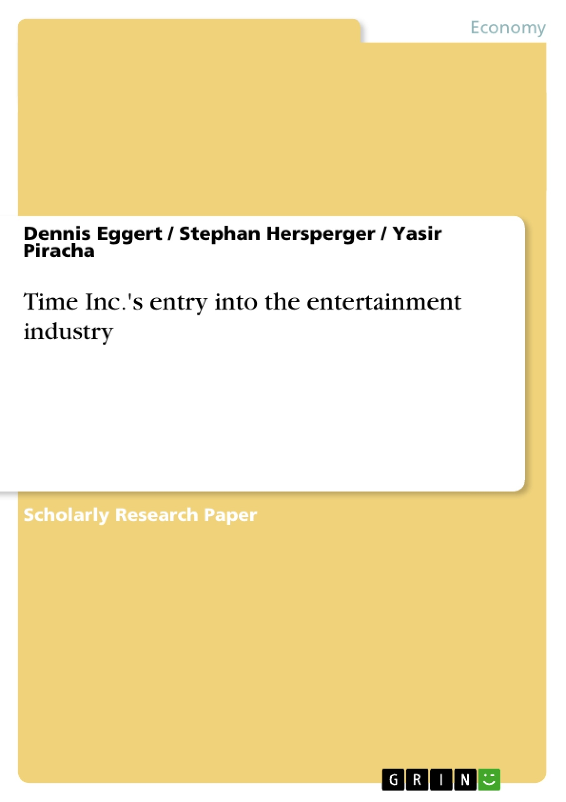 Title: Time Inc.'s entry into the entertainment industry