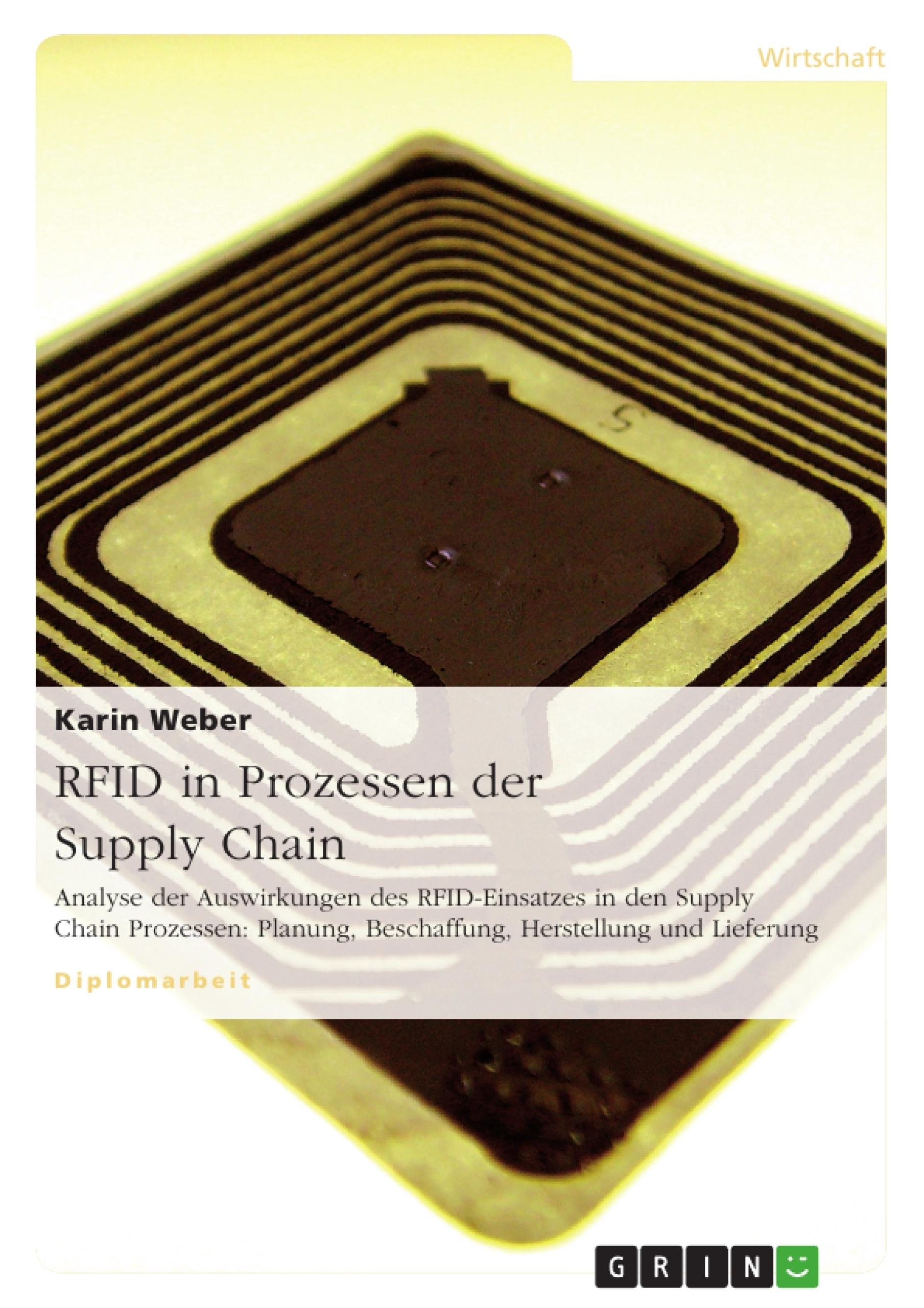 Titel: RFID in Prozessen der Supply Chain