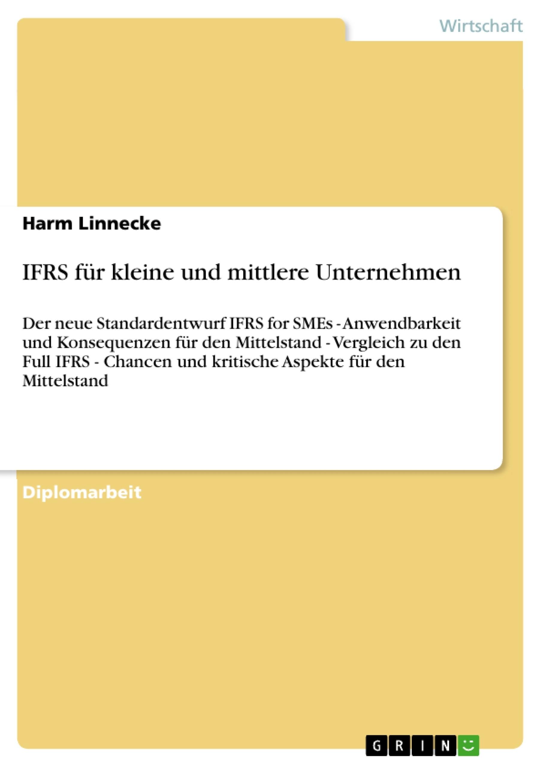 Titel: IFRS für kleine und mittlere Unternehmen