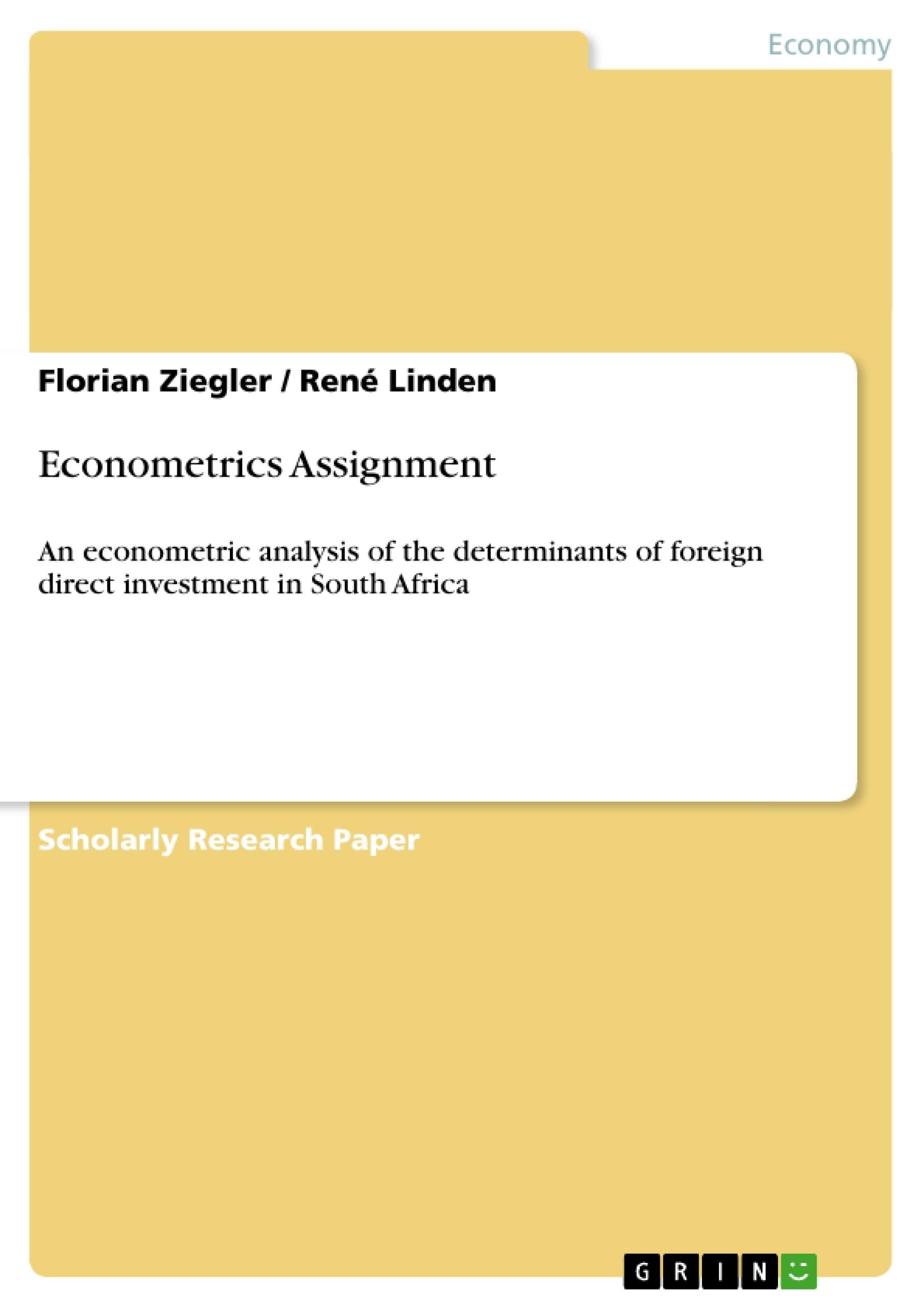 Title: Econometrics Assignment
