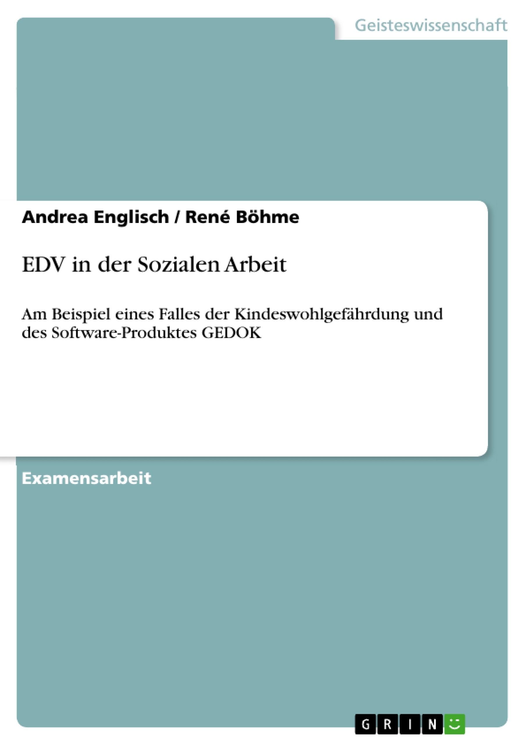 Titel: EDV in der Sozialen Arbeit
