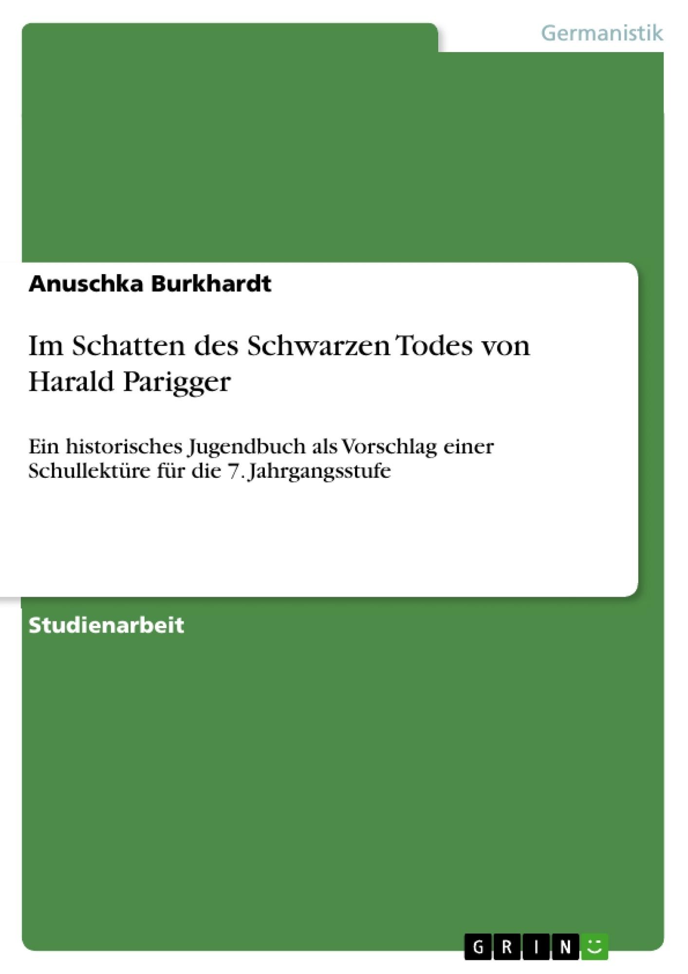 Titel: Im Schatten des Schwarzen Todes von Harald Parigger