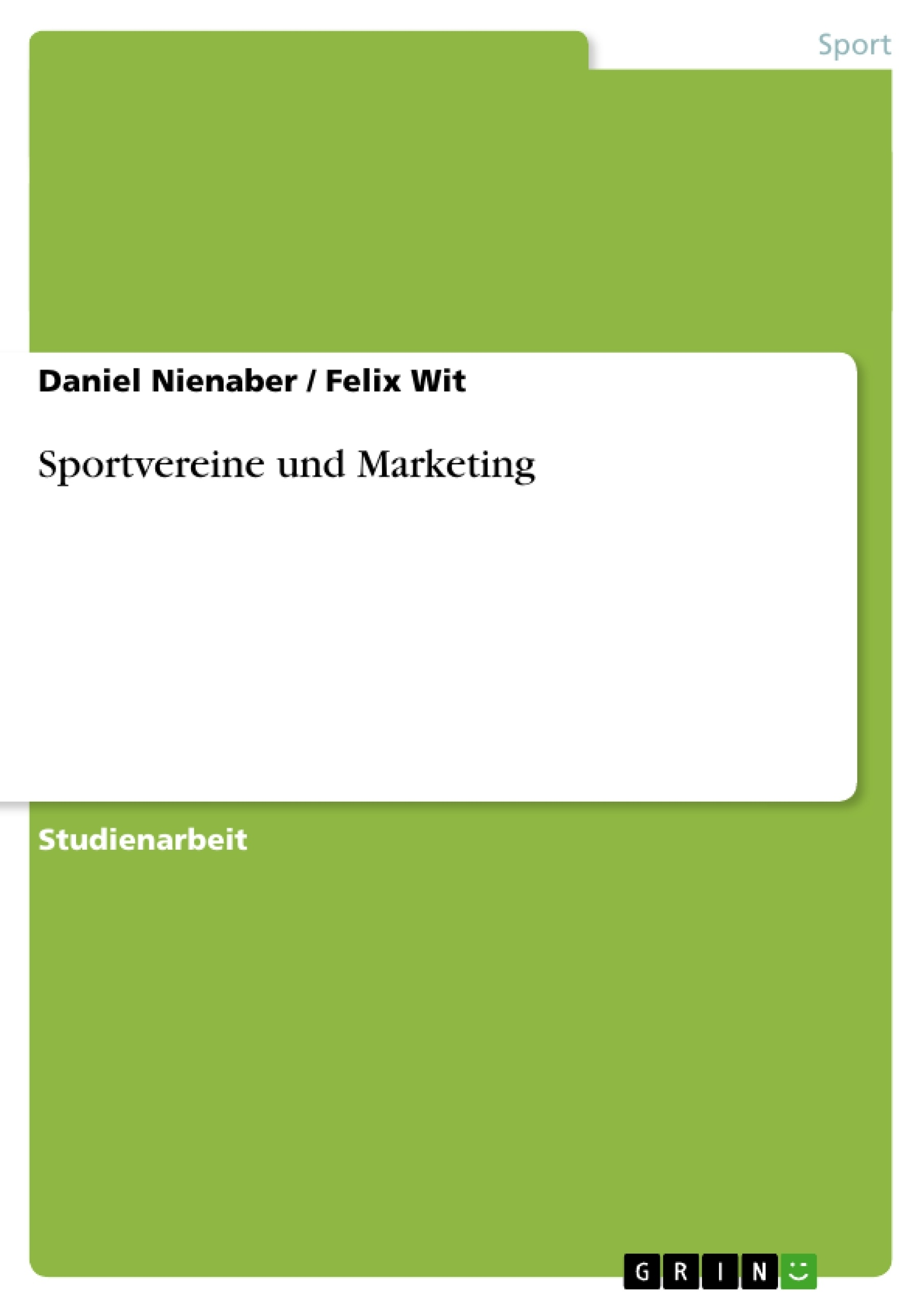 Titel: Sportvereine und Marketing