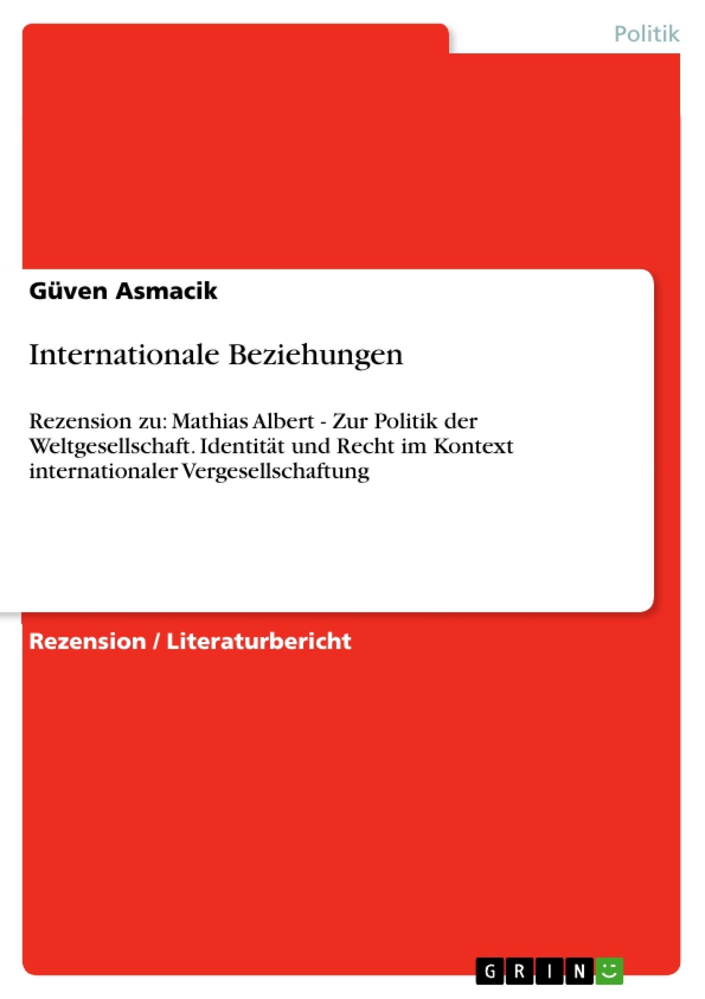 Titel: Internationale Beziehungen