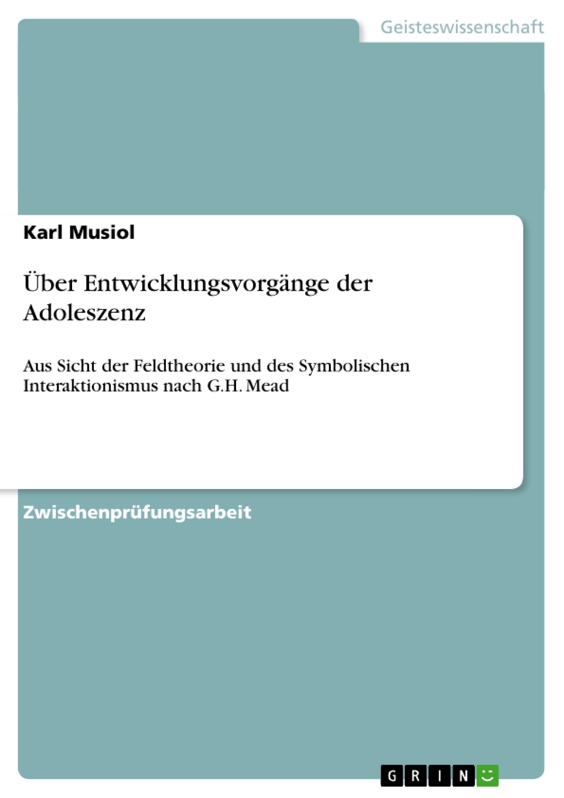 Titel: Über Entwicklungsvorgänge der Adoleszenz