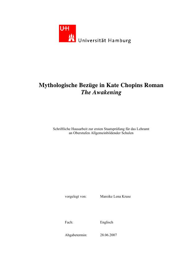 Titel: Mythologische Bezüge in Kate Chopins Roman 'The Awakening'