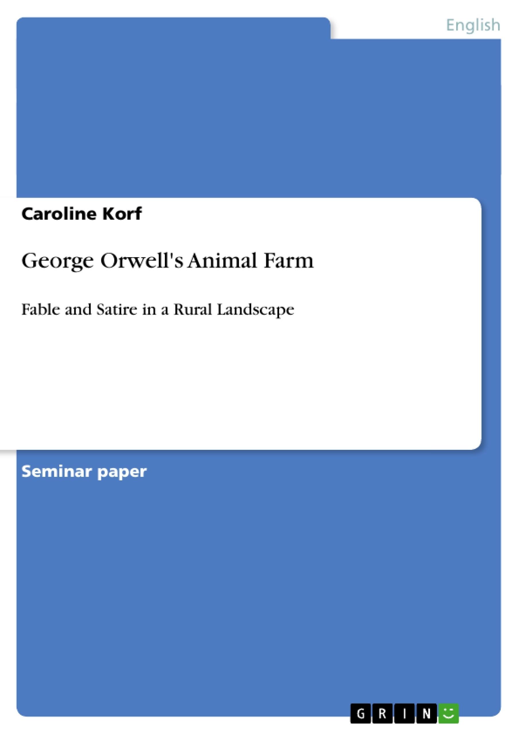 Title: George Orwell's Animal Farm