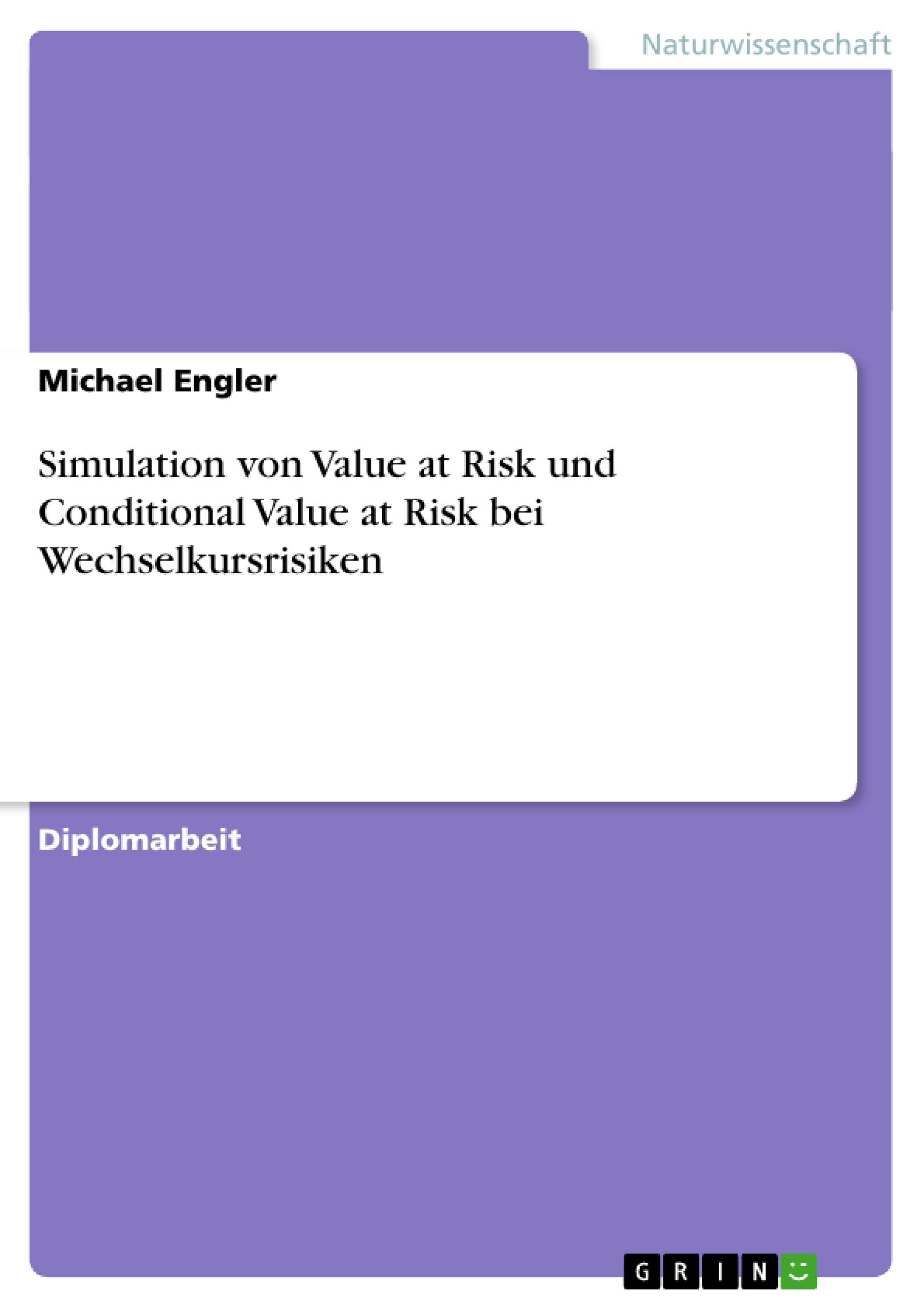 Titel: Simulation von Value at Risk und Conditional Value at Risk bei Wechselkursrisiken