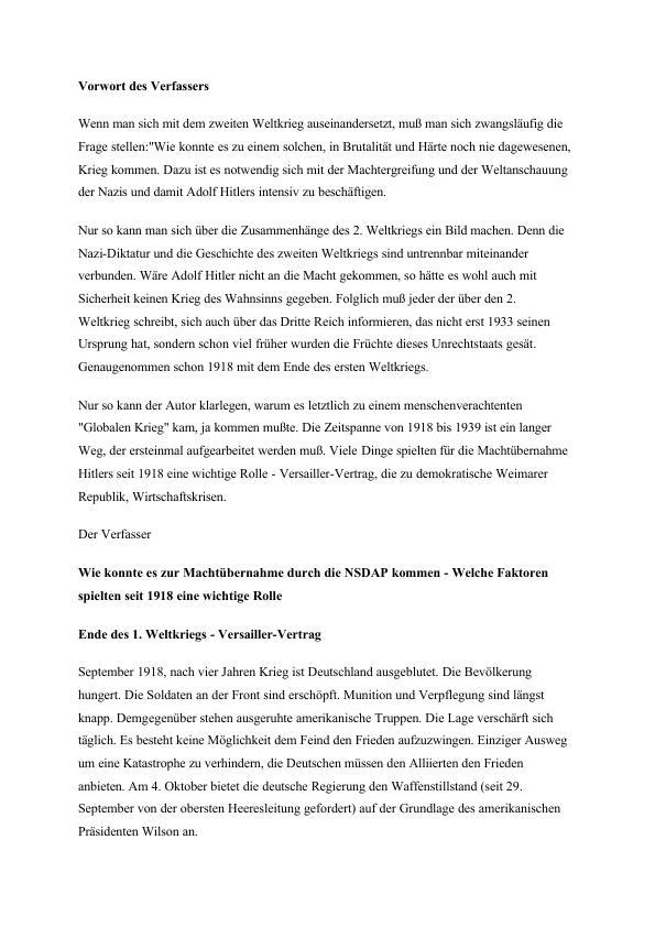 Titel: Machtübernahme durch die NSDAP - Welche Faktoren spielten seit 1918 eine wichtige Rolle