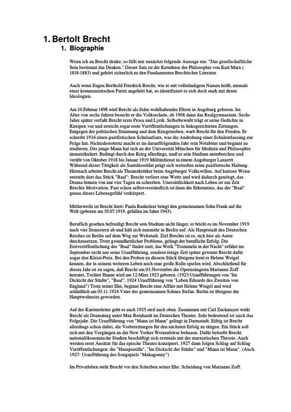 Ppt Bertold Brecht Die Liebenden Powerpoint