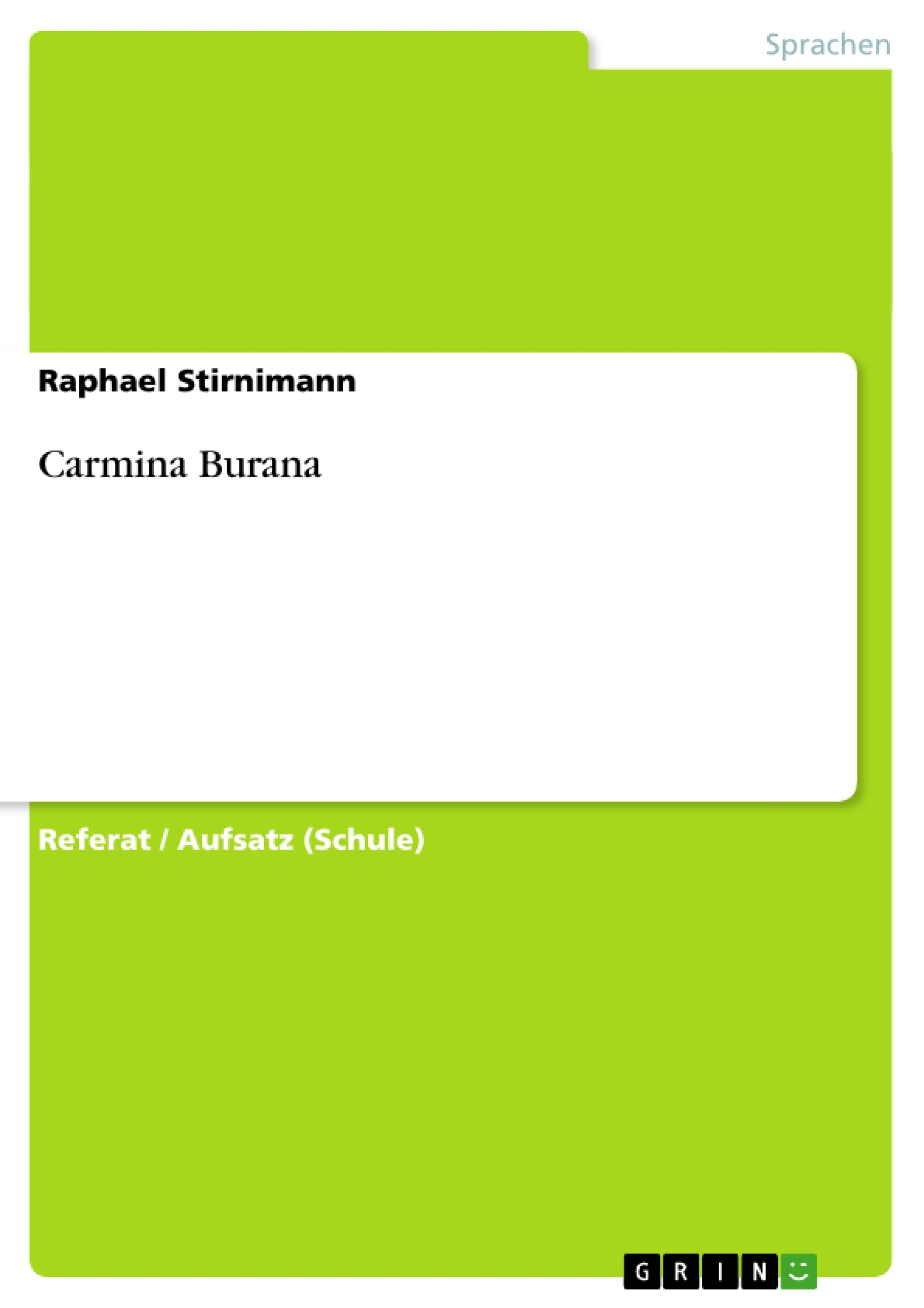 Titel: Carmina Burana