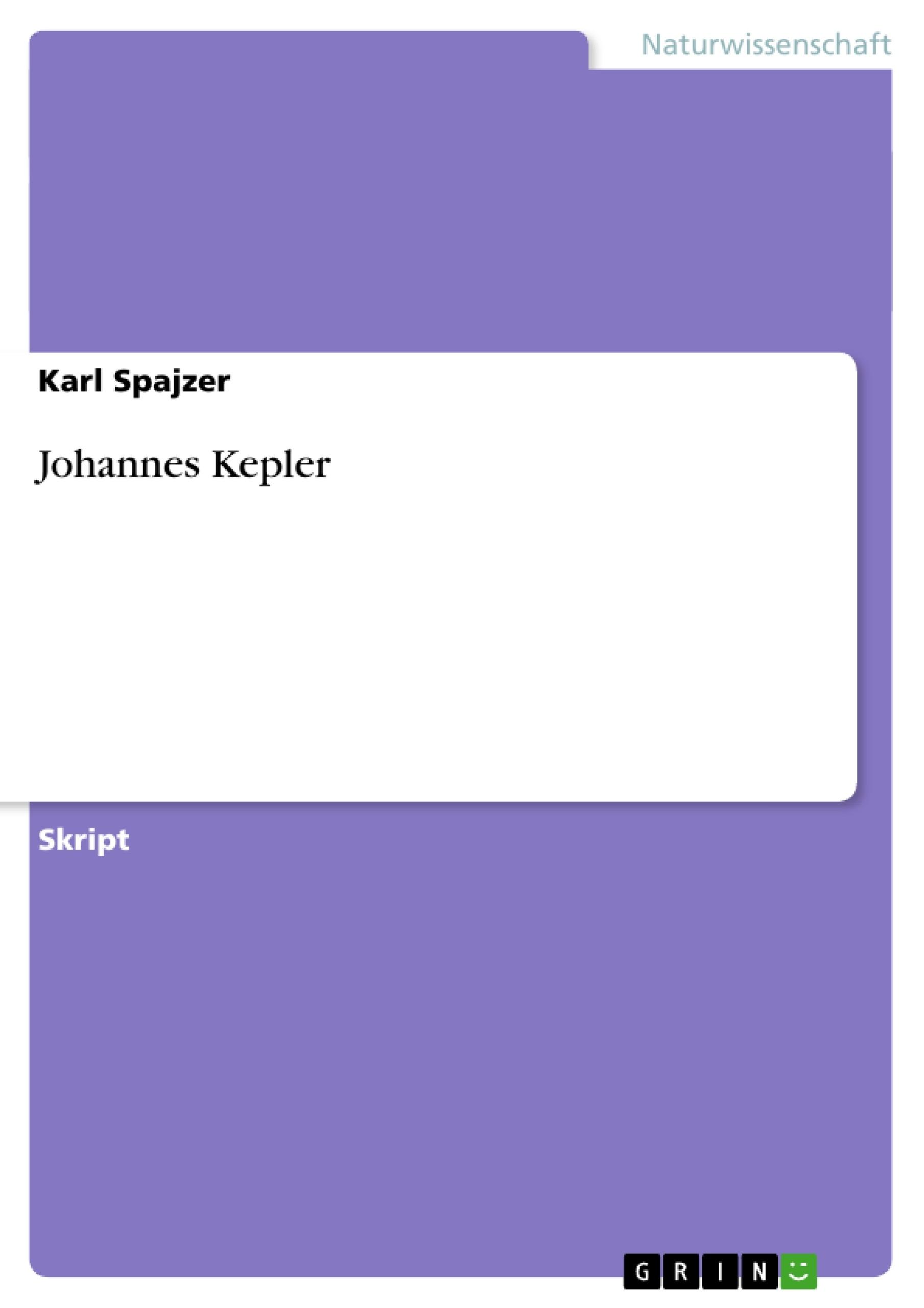 Titel: Johannes Kepler