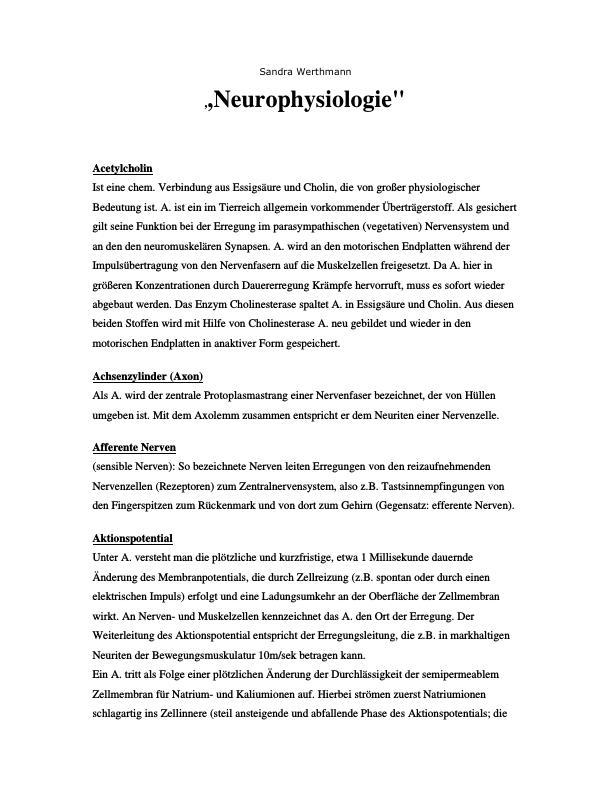 Titel: Neurophysiologie