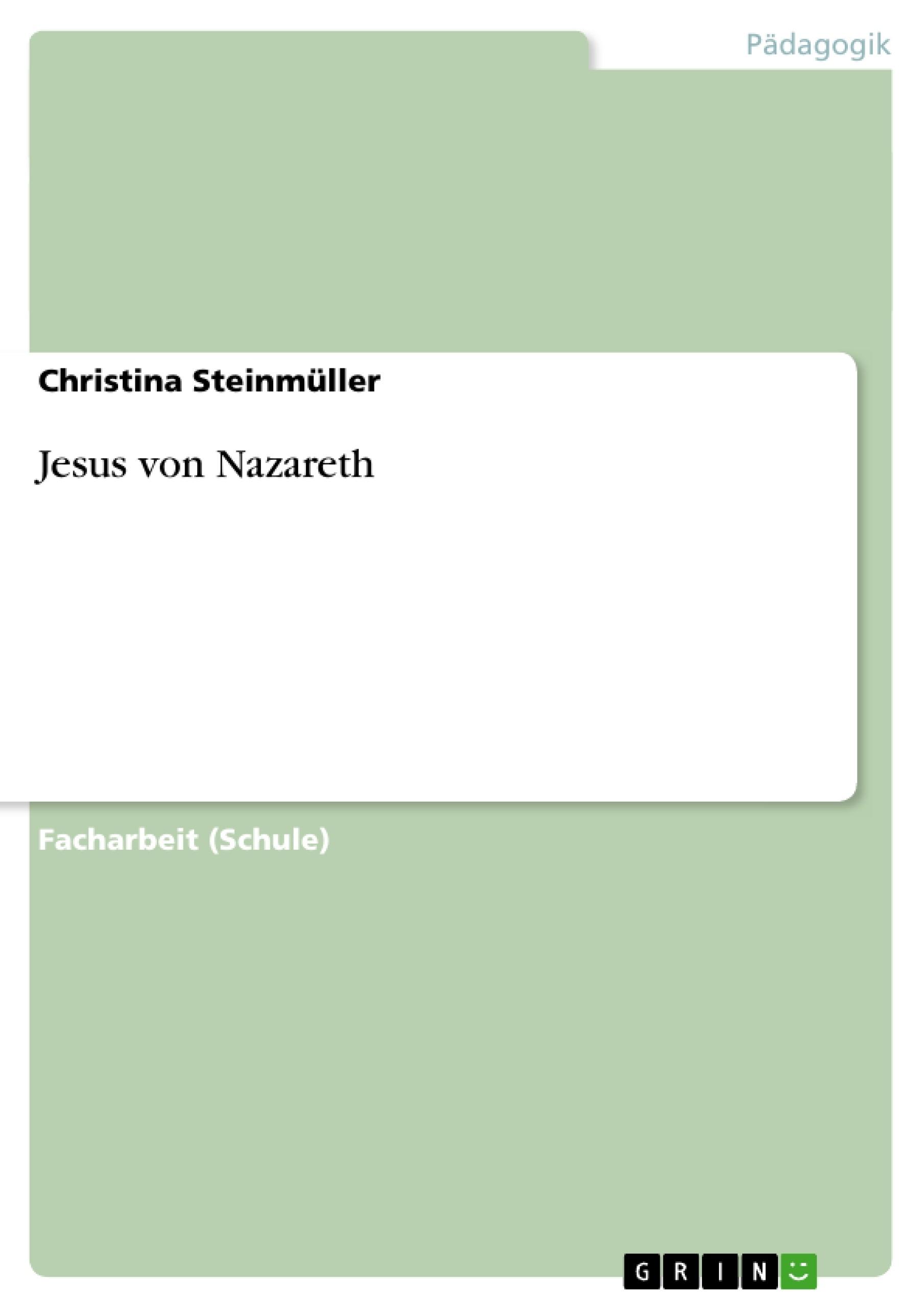 Titel: Jesus von Nazareth