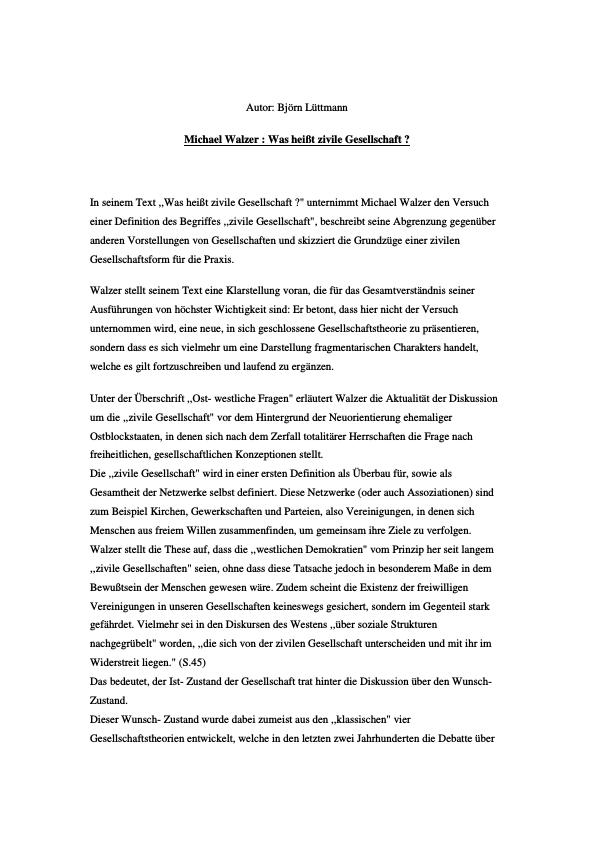 Titel: Civil Society - Zivilgesellschaft: Eine Essaysammlung