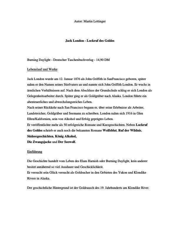 Titel: London, Jack - Lockruf des Goldes