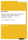 Title: Poultry Predation. Effects on Productivity of Village Poultry under Different Production Systems.