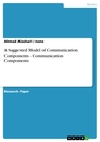 Title: A Suggested Model of Communication Components  -  Communication Components