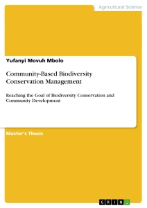 Title: Community-Based Biodiversity Conservation Management