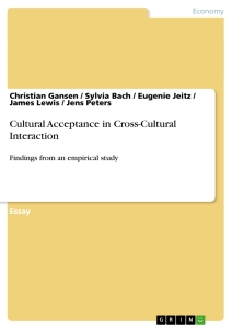 Title: Cultural Acceptance in Cross-Cultural Interaction