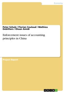 Titre: Enforcement issues of accounting principles in China