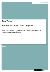 Titel: Fathers and Sons - Ivan Turgenev