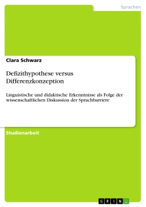 Titel: Defizithypothese versus Differenzkonzeption