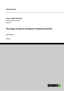 Title: The Origin of Species by Means of Natural Selection