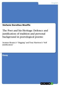 Title: The Poet and his Heritage: Defence and justification of tradition and personal background in poetological poems: